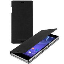 100% Genuine Roxfit Slimline Flip Case Cover Sony Xperia Z3 SMA5157B Nero Black