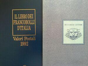 Italia Libro dei francobolli 1992 Buca delle lettere Completo con francobolli