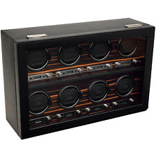 WOLF 2.7 Roadster 8 Eight Piece Automatic Watch Winder Storage Box NEW