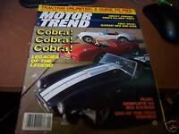 Motor Trend January 1983 Cobra Legacies of the Legend NO ML