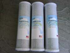L19 3 x REVERSE OSMOSIS CTO BLOCK  CARBON FILTERS RO, KOI, WINDOW CLEANING, FISH
