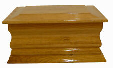 HILDA natural oak wooden ashes casket Sympathy Bereavement