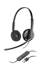 Plantronics 85619-101 Black Wire C320-M  Wired Headset On- Ear Black