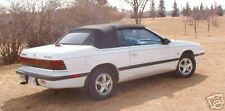 CHRYSLER LEBARON 90-95 CONVERTIBLE TOP+CLEAR VINYL WINDOW -BLACK SAILCLOTH VINYL