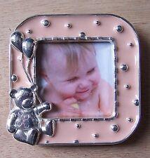 cadre photo bébé enfant beige motif ourson