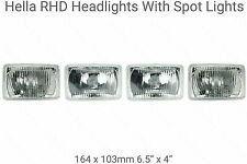 4 Rectangular Halogen Headlights Headlamps RHD Cadillac 1975 to 1985 Eldorado