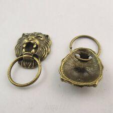 20pcs Antiqued Bronze Tone Alloy Lion Head Pendant Charms Jewelry 38426