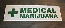 Medical Marijuana Banner Sign Flag Green Cross Pot Dispensary Cannabis Cbd Oil