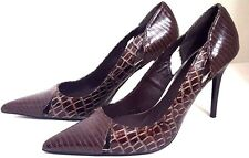 WOMENS BROWN PROMISE HIGH HEELS PUMPS EVENING WEDDING STILETTO SHOES SIZE 8.5