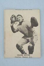 Vintage 1947 Tip Top Bread Baseball Card ~ Boston Red Sox Frank Hayes
