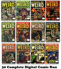 ADVENTURES INTO WEIRD WORLDS  #1-30 Run ATLAS comic books 1952 on DVD horror