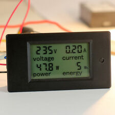 100A AC Digital LCD Panel Power Meter Monitor Power Energy Voltmeter Ammeter