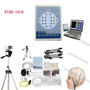 Digital 16 Channel EEG Mapping 2 Channel ECG,2 tripod,Brain electric,pc software