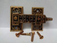 1 MORE AVAIL RARE ANTIQUE NOS SHUTTER BAR JELLY CABINET LATCH 1880's #2