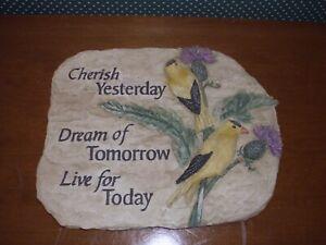 "CARSON- EXPRESSIONS STEPPING STONE-CHERISH-""CHERISH YESTERDAY-DREAM OF TOMORROW."
