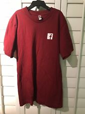 Facebook Employees Only Tech Company Shirt, Red, American Apparel Mens Small S
