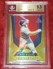 MARK MCGWIRE 2000 FINEST GOLD REFRACTOR #274 /BURRELL MISSING DIE-CUT BGS 9.5 ☆