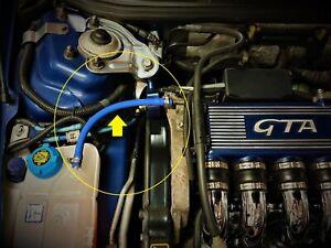 Alfa Romeo 147,156,GT,GTA 3.2 V6 Busso Header Expansion Tank Blue Silicone Hose