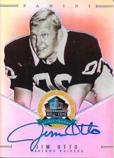 RARE JIM OTTO SIGNED PANINI SPECTRA HALL OF FAME CARD~FOOTBALL HOF AUTO~50/50