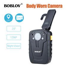 """BOBLOV 1296P 64GB 2.0"""" Body Worn Camera GPS Ambarella A7 Security Guard Video"""