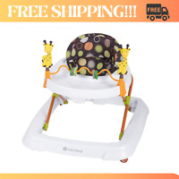 Baby Walker Foldable Adjustable High Back Seat Toddler Activity Toys Tray