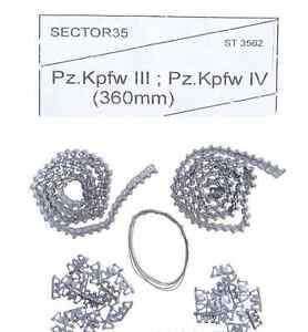 Sector 35 3562-SL - 1/35 - Assembled Metal Tracks For PZ-III, IV Metal Model Kit