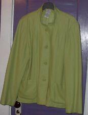 Women White Stag Sport Blazer Jacket size XL (16/18) Coat Wool/Rayon
