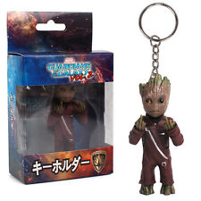 Guardians of the Galaxy Vol.2 Baby Groot Middle Finger KeyChain PVC Figure Gift