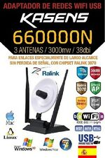 ANTENA WIFI,KASENS 660000N,38dBI,3W,RALINK 3070,150MBPS,MEJOR QUE AWUS036NH