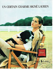 PUBLICITE ADVERTISING 104  1991  RALPH LAUREN parfum femme