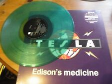 "TESLA~Edison's medicine~Ltd No 2632 GREEN VINYL 12"" DIE CUT PS~ EXC (GFSX13)"