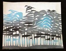 1960s Japanese Woodblock Print Forest by Inagaki Toshijiro (1902-1963)(Fuj)