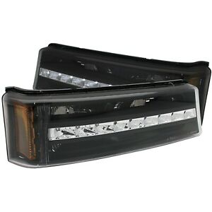 Anzo Parking/Signal Lights Black G2 Amber For Chevy Silverado/Avalanche 03-06