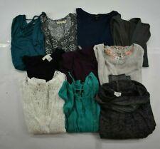 Wholesale Bulk Lot of 10 Womens Medium Business Casual Long Sleeve Tops Blouses