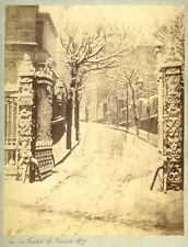 Photo Albuminé Pictorialisme Paris Sous La Neige 1879