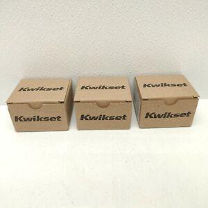 LOT OF 3 Kwikset Single Cylinder Deadbolt Lock SmartKey Satin Nickel 96600-575