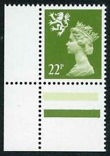 SGS48ea 1984 22p yellow-green Scotland (JW type 2) Scarce U/M