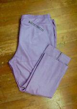 Pamela McCoy 3X Petite Purple Lavender Leather Straight Pants Slacks Plus Sz 24P