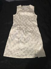Girl Code All White Floral Knee-Lengh Summer Dress Size 7 USA Made