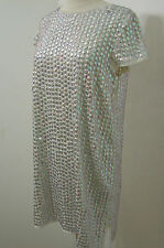 TOPSHOP Hand Sewn Iridescent Sequin Short Sleeve Tunic Dress NWD 6