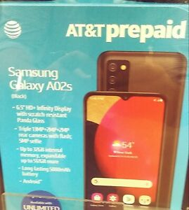 """Samsung Galaxy A02s AT&T Prepaid Android 6""""5 HD 13MP - Brand New Sealed in Box"""