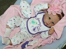 """MOMMY's LOVE! -Newborn 20"""" Collectors Life Like Weighted Baby Girl Doll +Outfits"""