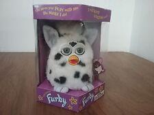 Furby Tiger Electronic 1998 Talking Model 70-800 White w/ Black Spots Blue Eyes