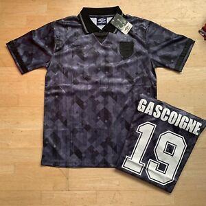 England 1990 Blackout Shirt Gascoigne 19 Size Medium Or Large BNWT