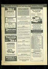 MARCH 1971 MOTORCYCLE MECHANICS MAGAZINE ADVERT PAGE (RELIANT CONTENT)