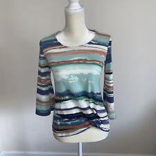 Jm Collection Womens Cool Breeze Multicolor Front Twist Petite Size P/P N50