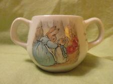 Wedgewood Beatrix Potter Peter Rabbit Childs Baby 2 Handle Cup F Warne England