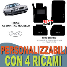 TAPPETINI AUTO PER MERCEDES CLASSE E W210 IN MOQUETTE FONDO GOMMA 4 RICAMI EASY