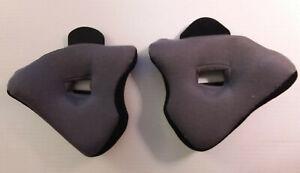 Genuine Fox Racing 91028-001-004 2000 Flite Helmet Cheek Pads Black Size M