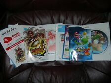 * Nintendo Wii Games *LOT* MARIO STRIKERS CHARGED & SUPER MARIO GALAXY 2